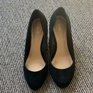 Aldo black platform shoes